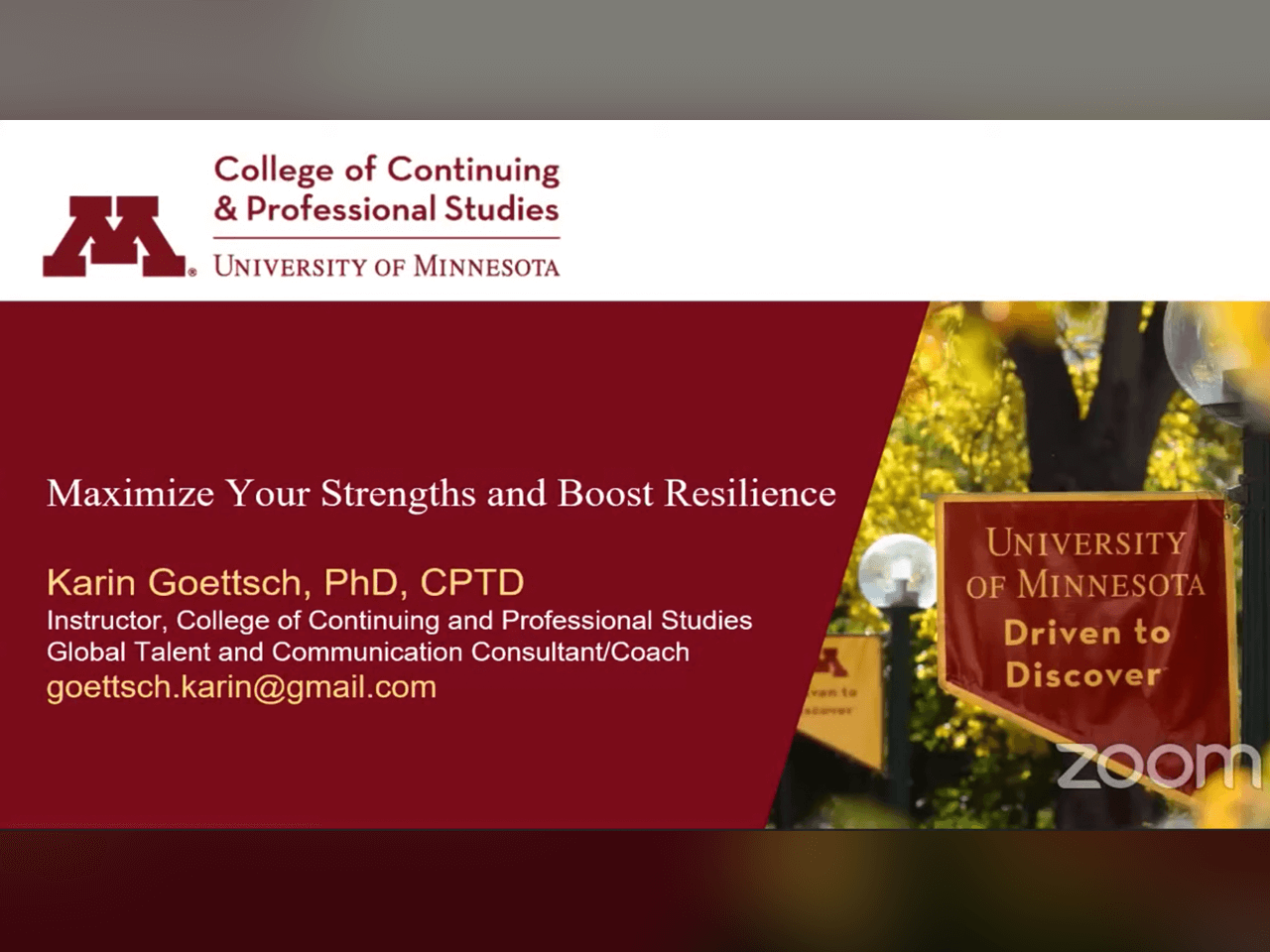 Webinar: Maximize Your Strengths and Boost Resilience