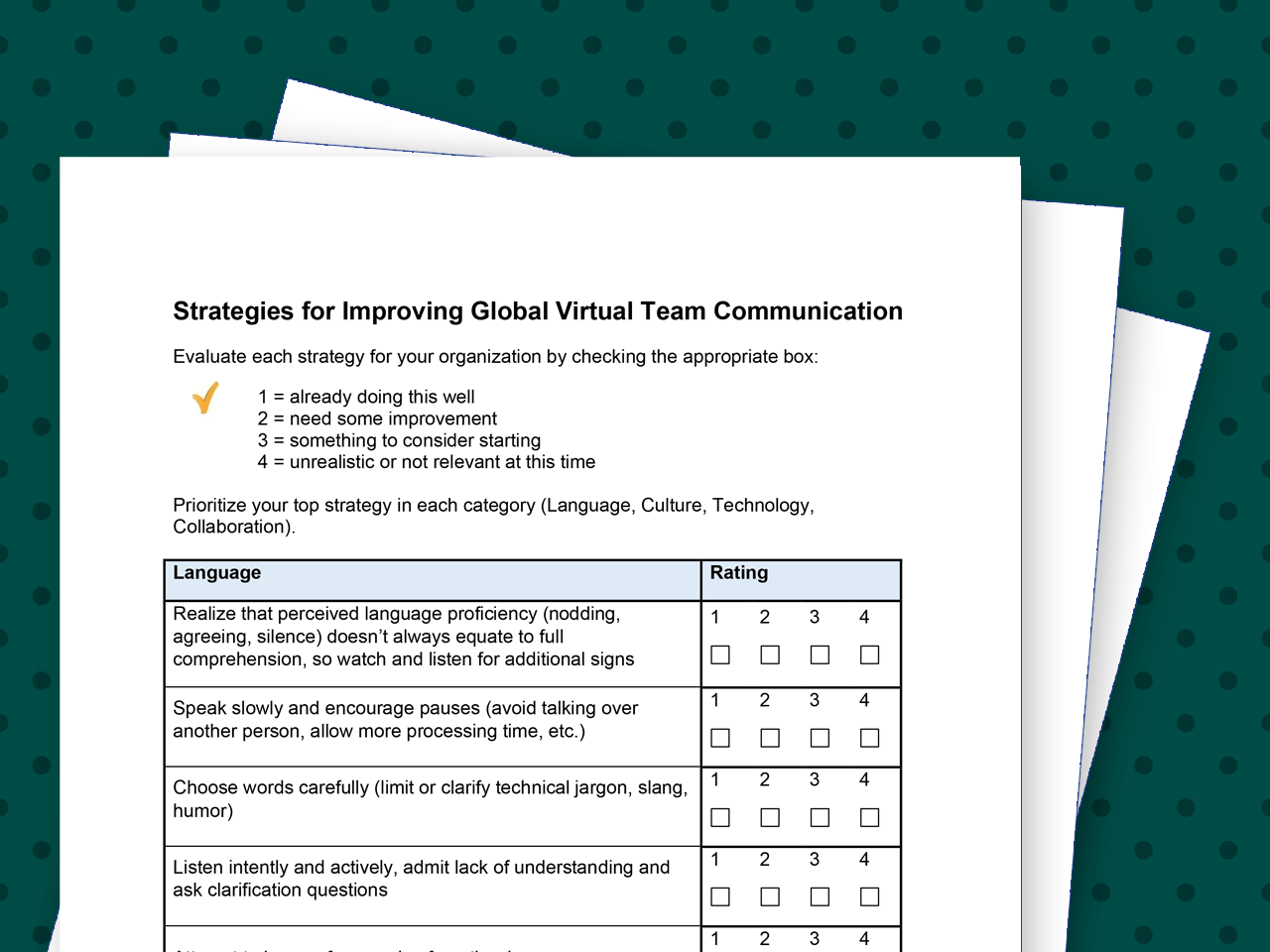 Strategies for Improving Global Virtual Team Communication