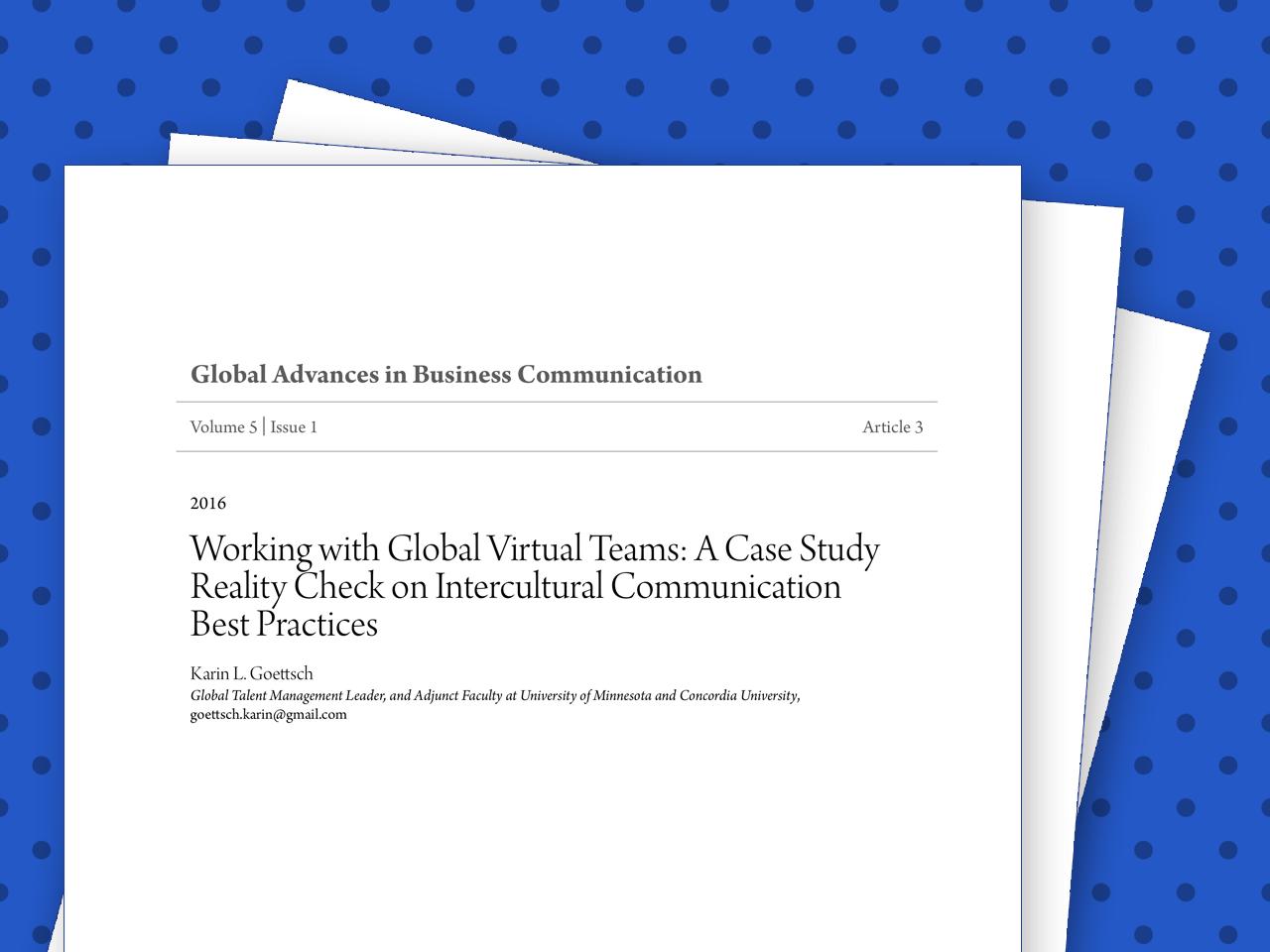 Global Virtual Teams: An Intercultural Communication Reality Check