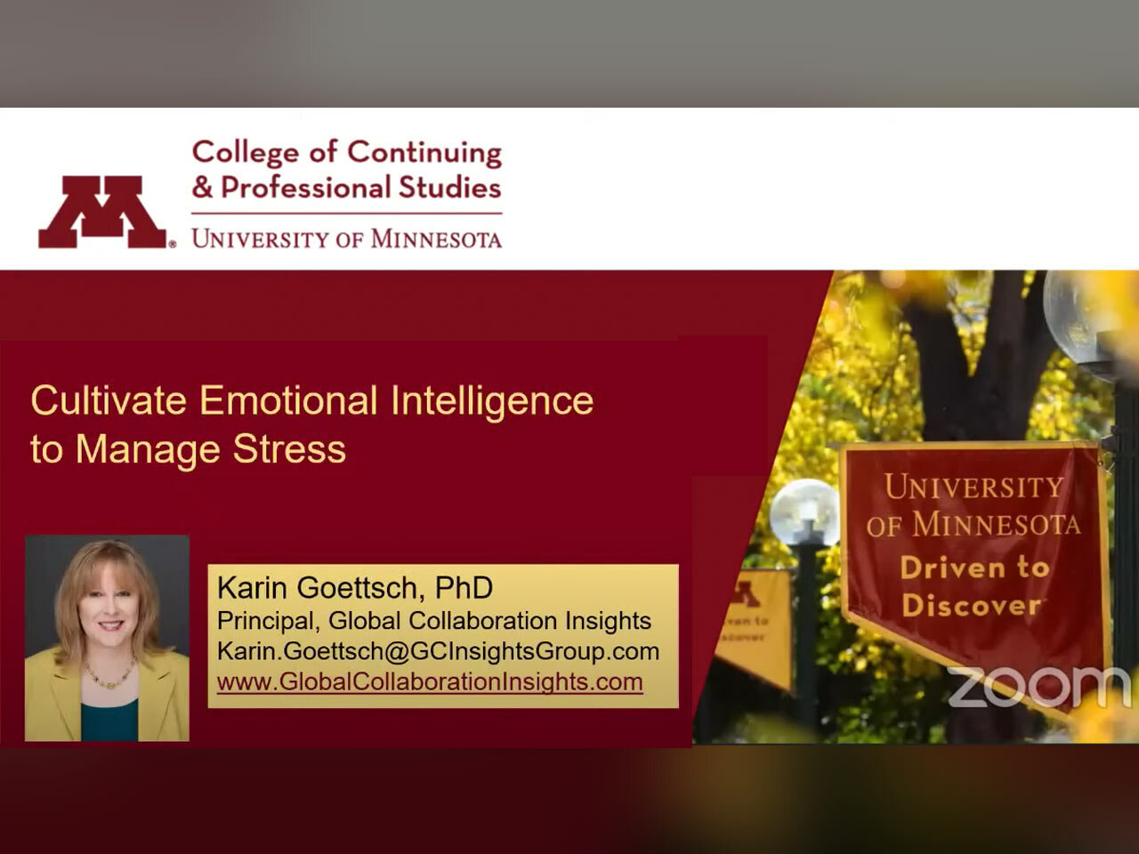 Webinar: Cultivate Emotional Intelligence to Manage Stress